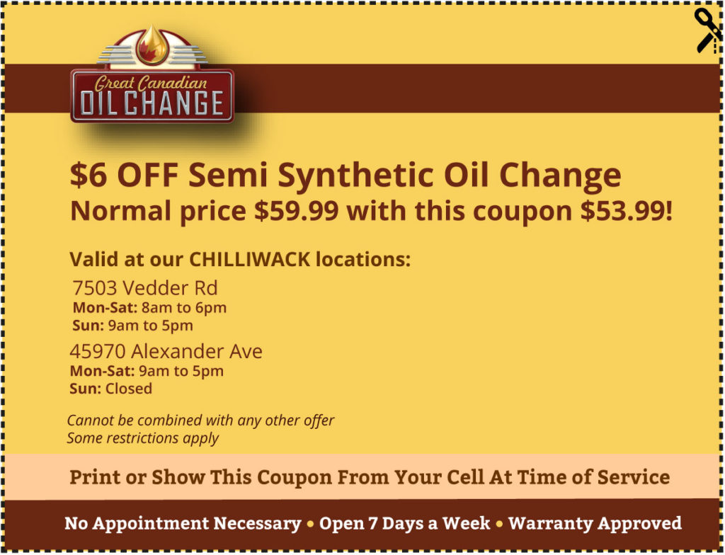 Chilliwack-coupon-$6-off-semi-synthetic-oil-change